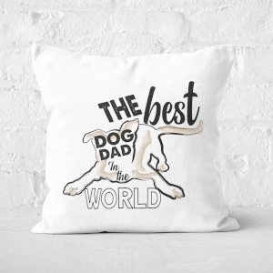 Dog Dad Square Cushion