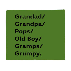 Grandad/Grandpa/Pops... Fleece Blanket