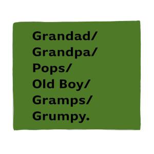 Grandad/Grandpa/Pops... Fleece Blanket