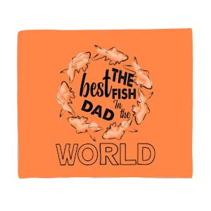 Best Fish Dad Fleece Blanket