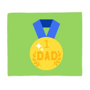 Dad Medal Fleece Blanket