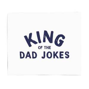 King Of The Dad Jokes Fleece Blanket