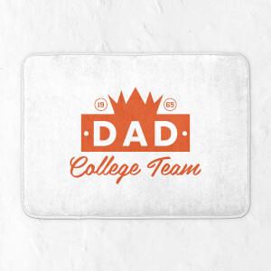 Dad College Team Bath Mat