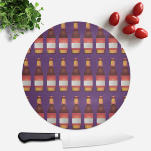 Beer Bottle Round Chopping Board