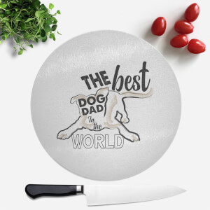 Dog Dad Round Chopping Board