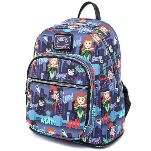 Loungefly Dc Comics Ladies Of Dc Aop Mini Backpack