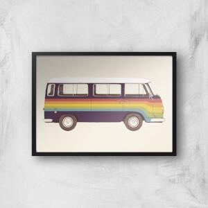 Van Rainbow Giclee Art Print