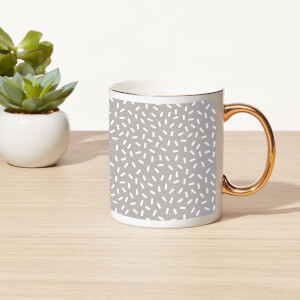 Sprinkles Bone China Gold Handle Mug
