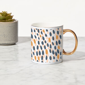 Spots Bone China Gold Handle Mug