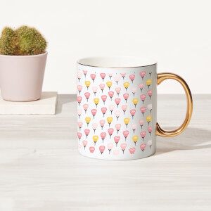 Roses Bone China Gold Handle Mug