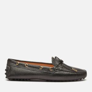 Tod's Women's Heaven Suede Driving Shoes - Dark Grey