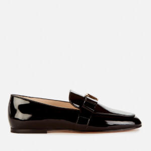 Tod's Women's T Bow Patent Leather Flats - Black