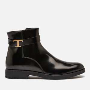 Tod's Women's T Leather Chelsea Boots - Black