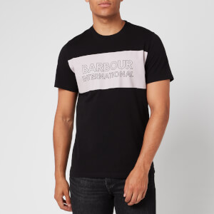 Barbour International Men's Panel Logo T-Shirt - Black