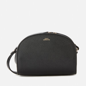 A.P.C. Women's Mini Demi-Lune Crossbody Bag - Black