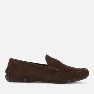 Emporio Armani Men's Suede Driving Shoes - Brown