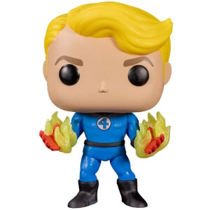 Marvel Fantastic 4 Human Torch Suited GITD EXC Pop! Vinyl Figure
