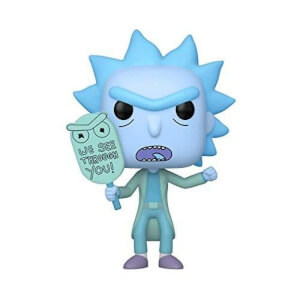 Rick & Morty Hologram Rick GITD EXC Pop! Vinyl Figure