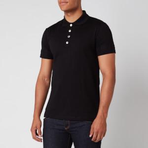 Balmain Men's Embossed Polo Shirt - Black