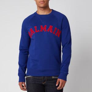 Balmain Men's College Sweatshirt - Navy/Red