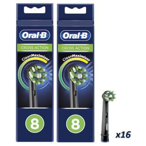 CrossAction Opzetborstels - Zwart, Verpakking 16-Pak