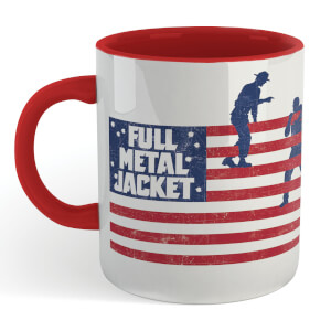 Full Metal Jacket American Stripes Mug - White/Red