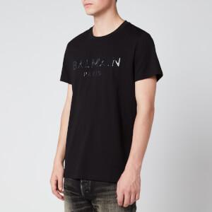 Balmain Men's Resin Logo T-Shirt - Black