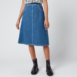 KENZO Women's Knee Length Denim Skirt - Midnight Blue