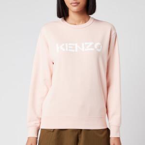 KENZO Women's Classic Fit Sweatshirt KENZO Logo - Faded Pink