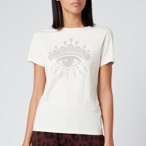 KENZO Women's Icon Classic T-Shirt Eye - Ecru