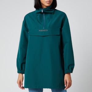 KENZO Women's Half Zip Hoodie - Duck Blue