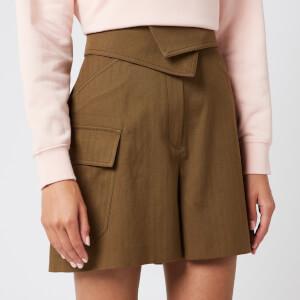 KENZO Women's Utility Shorts - Khaki