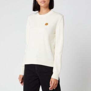 KENZO Women's Underpinning Crewneck Sweatshirt - White
