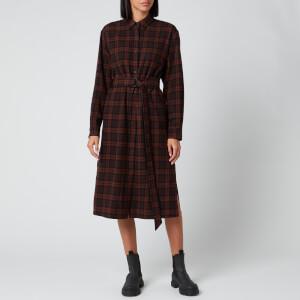 KENZO Women's Long Shirt Dress - Dark Brown