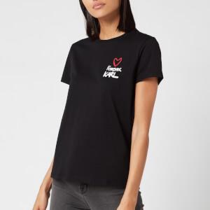 Karl Lagerfeld Women's Forever Karl T-Shirt - Black