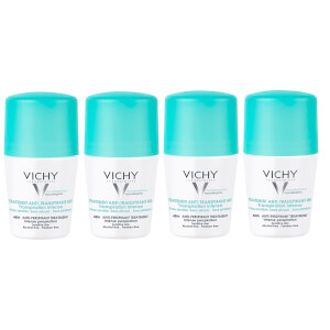 VICHY 48 Hour Intensive Anti-Perspirant Roll-on Deodorant Set for Sensitive Skin 4 x 50ml