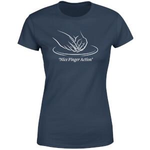 Nice Finger Action Women's T-Shirt - Navy