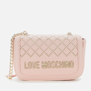 Love Moschino Women's Quilt Stud Detail Shoulder Bag - Pink