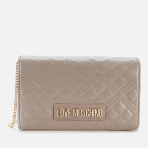 Love Moschino Women's Quilted Chain Bag - Taupe