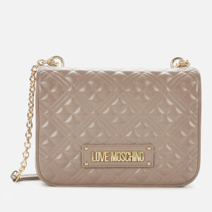 Love Moschino Women's Quilted Shoulder Bag - Taupe