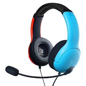 Nintendo Switch Gaming Headphones (Wired) - Neon Blue / Neon Red