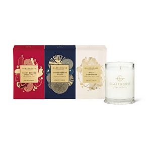 Glasshouse Christmas Mini Candle Trio Set (3 x 60g)