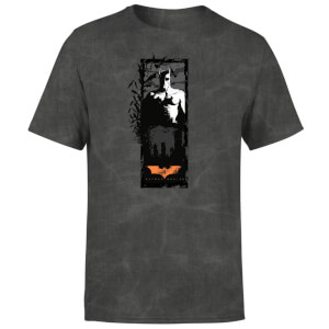 Batman Begins More Than A Man Men's T-Shirt - Black Acid Wash