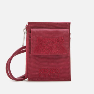 KENZO Men's Kampus Canvas Cardholder on Strap - Magenta