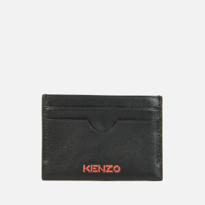 KENZO Men's Leather Cardholder - Black