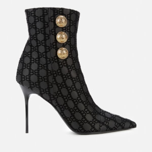 Balmain Women's Heeled Shoe Boots - Black
