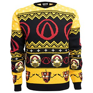 Borderlands Lock Load Loot Christmas Knitted Jumper- Black