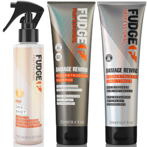 Fudge Professional Damage Rewind Shampoo, Conditioner and One Shot Bundle (Worth £39.00)