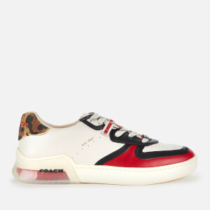 Coach Women's Citysole Court Trainers - Chalk/Electric Red