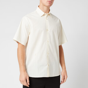 KENZO Men's Casual Short Sleeve Shirt - Ecru